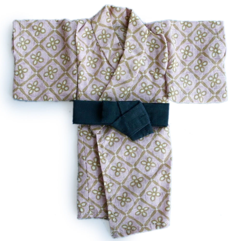 wamami Bathrobe Pink Flower Kimono Clothing Coat 1 4 MSD DOLL BJD Dollfie