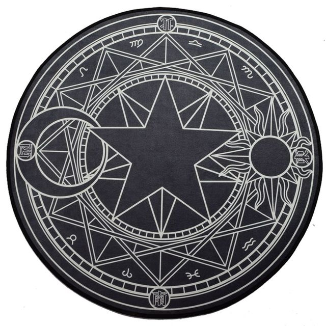 Аниме коврик Сакура собирательница карт круглый 4