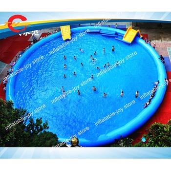 Komercyjne dzieci i dorośli nadmuchiwany basen nadmuchiwany park rozrywki o średnicy 10m 15m 20m nadmuchiwany basen tanie i dobre opinie Duży zewnętrzny pompowany rekreacyjny 6 lat inflatable pool swimming pool 10x0 65m 15x0 65m 20x1m