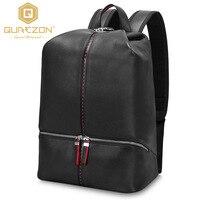 Дизайнер Высокое качество Марка для ноутбука из натуральной кожи рюкзак мужские дорожные сумки 2017 Многофункциональный рюкзак черный школь