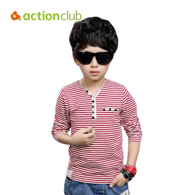 2016 новая весна мальчиков с длинным рукавом одежды дети высокое качество мальчик футболка для 8 - 12 лет дети мода топ KU1136