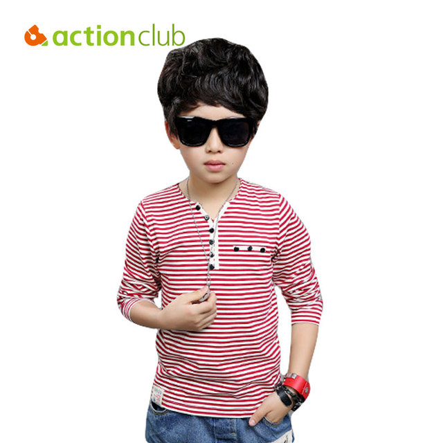 2016 New Spring Boys Long Sleeve Clothing Kids High quality Baby Boy T-shirt for 8-12 years Children Fashion Top KU1136