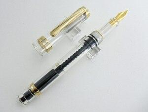 Image 4 - Wingsung pluma estilográfica 698, pluma estilográfica de pistón transparente, 698