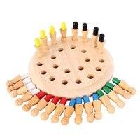 Hot! bộ nhớ Match Stick Trò Chơi Cờ Vua Cho Trẻ Em Trẻ Em Tập Hợp Đồ Chơi Bằng Gỗ Đầu Giáo Dục 3D Puzzle Developmental Đồ Chơi