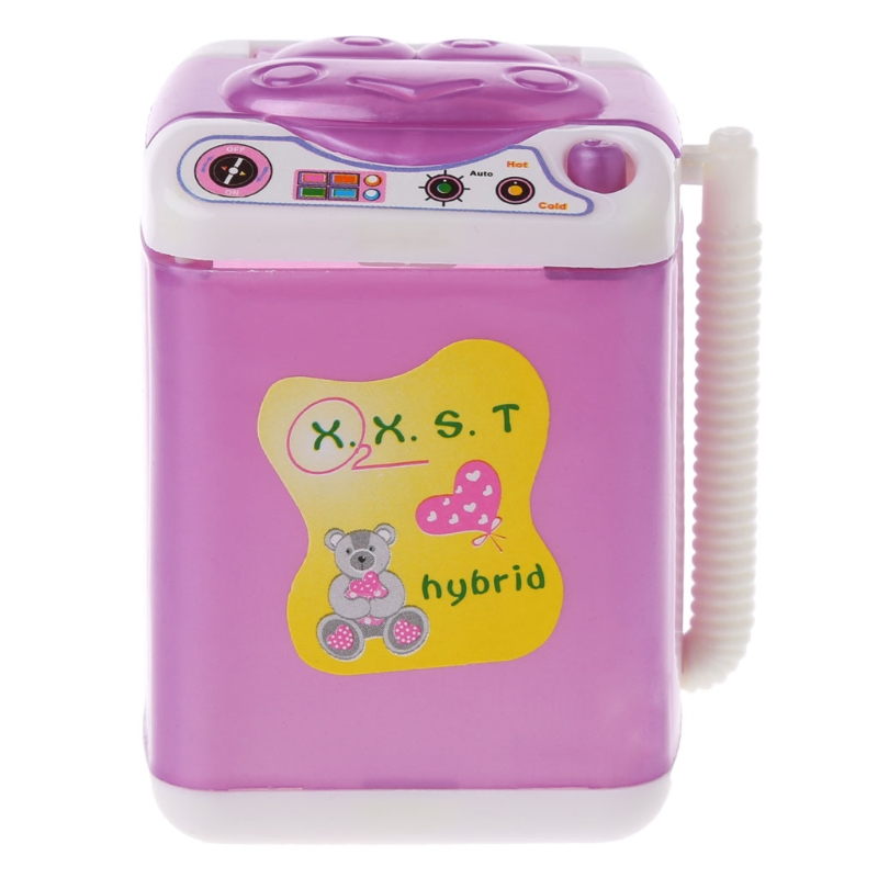 2019 New Furniture Washing Machine For Barbie Doll House Baby Toys Doll Accessories