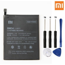 Xiao Mi Original Replacement Phone Battery BM34 For Xiaomi note Pro Authenic Rechargeable 3090mAh