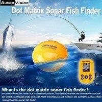 Recentes Inteligente X9 Recarregável Dot Matrix Sonar Fish Finder Portátil Sonar Sensor Fish Finder 100 m profundidade Sem Fio Fishfinder