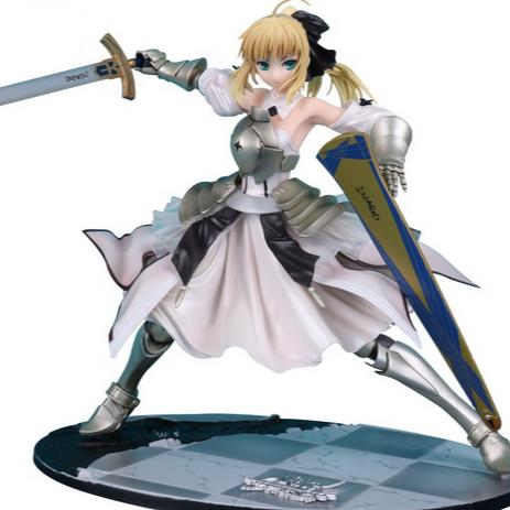 Fate Stay Night Saber Lily Avalon 1/7 Painted PVC Action Figure Collectible Model Toy 23cm KT3136