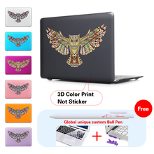 Indian Totem Owl Pattern Print Case Cover for MacBook Pro Retina 13 15  MacBook 12 Air 11 13.3 inch Laptop Sleeve Shell