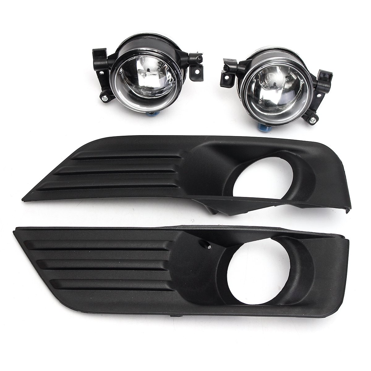 2Pcs Car Front Fog Lights Lamp Assembly Bumper Cover Grille Kit car fog Light For Ford/Focus 2005-2007 ownsun innovative super cob fog light angel eye bumper cover for skoda fabia scout