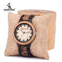BOBO BIRD N28 Couples Classic Analog Unique Wood Watches Top Brand Design Elegant Wooden Quartz WristWatches