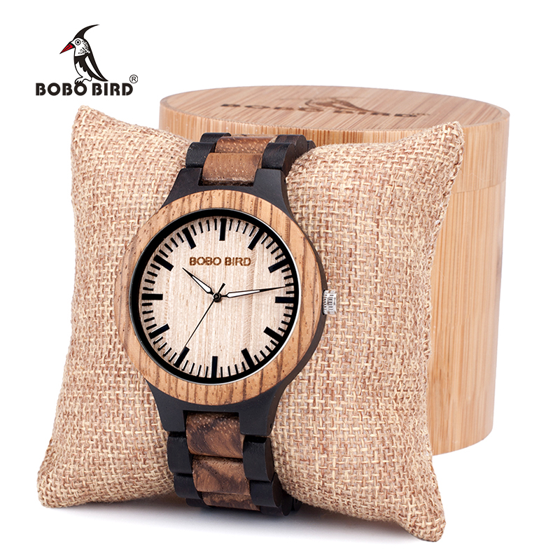 BOBO BIRD lover's Wood Watch Men women Top Brand Design Elegant Wooden Quartz Wrist Watches gift cuostom logo saat erkek bobo bird brand new wood sunglasses with wood box polarized for men and women beech wooden sun glasses cool oculos 2017