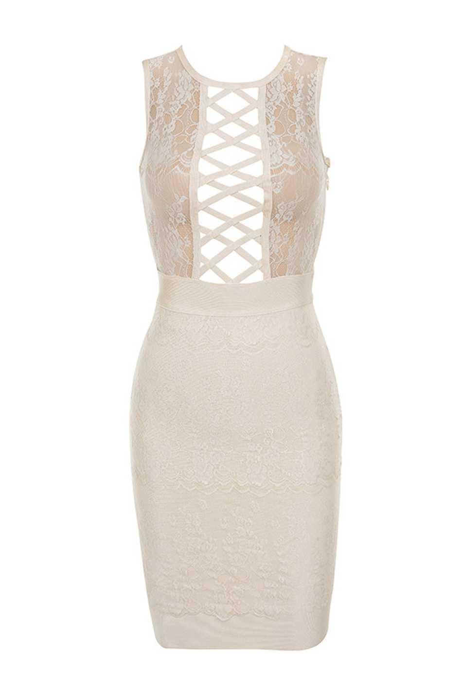 Лето район бинты мини для женщин обтягивающее платье vestidos кружево оболочка без рукавов спереди на шнуровке для знаменитости вечерние Night Out