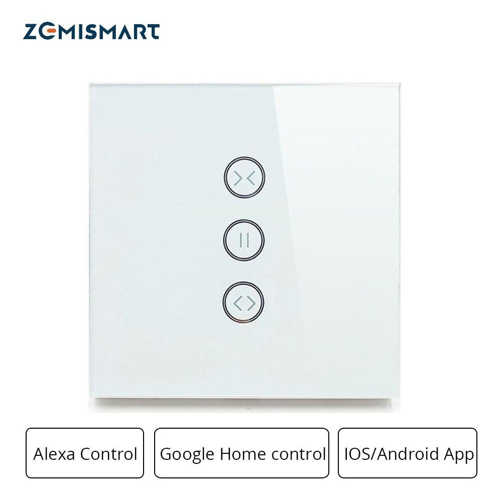 Zemismart Google accueil Alexa interrupteur à rideau d'écho interrupteurs aveugles pour moteur à rouleaux Standard moteur à glissière Wifi APP Siri contrôle