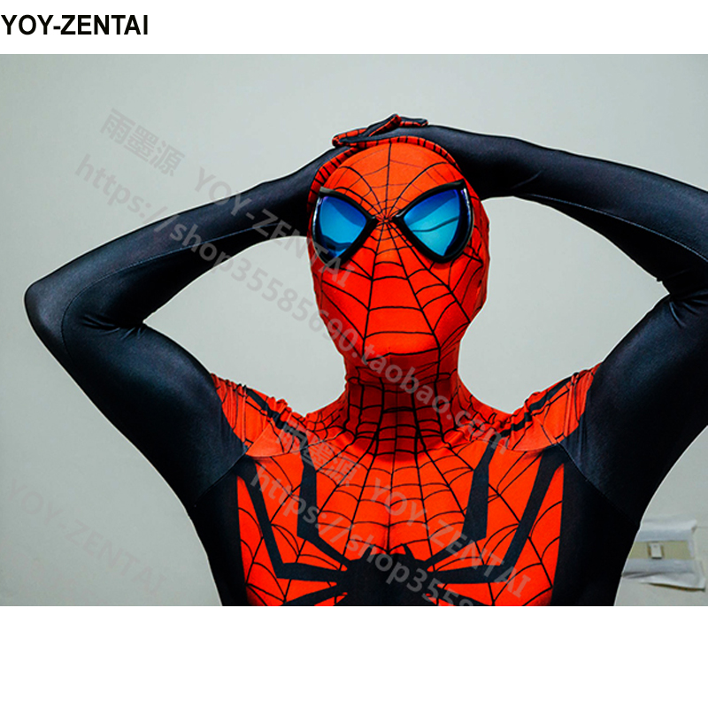 High Quality Unlimited Spiderman Costume Adult Black Spiderman Lycra Suit Comic Unlimited Spiderman Suit Man Cosplay Spiderman-in Anime Costumes from ...  sc 1 st  AliExpress.com : red and black spiderman costume  - Germanpascual.Com