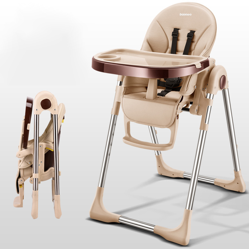 4 In 1 Multi-function BabyDining Chair Universal Wheel Children's Baby Table Portable Folding Kids Chair Multi-angle Adjustment