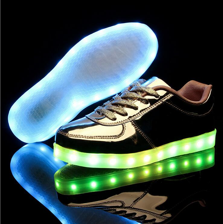 ФОТО New Style Fashion Children USB Charging Luminous Sneakers Kids LED Shoes Girls Boys Light Shoes Casual Sneaker