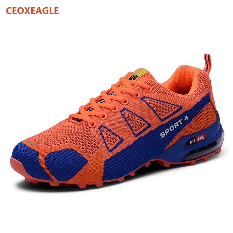 Spéciale orange royal Livraison Gratuite Chaussures À Montagne Sport Hommes De Jogging Green Blue Sortie Tricoter 2019 Offre Baskets D'escalade Fly Marche red Style mnwN8v0