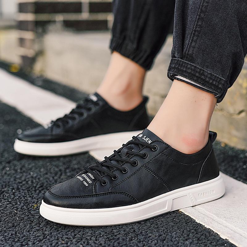 Mens Autumm Sapatos Sólida Luxo preto Pu Primavera Casuais Apricot Concisa Masculinos Plana Confortáveis branco Concise Condução qwf5PEq