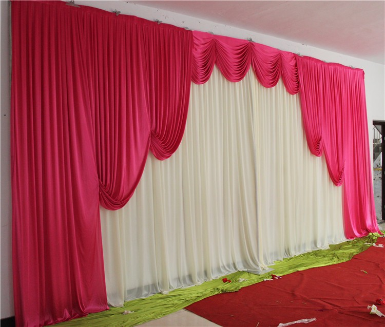 Customade Wedding Backdrops Curtain Swag High Quality Silk