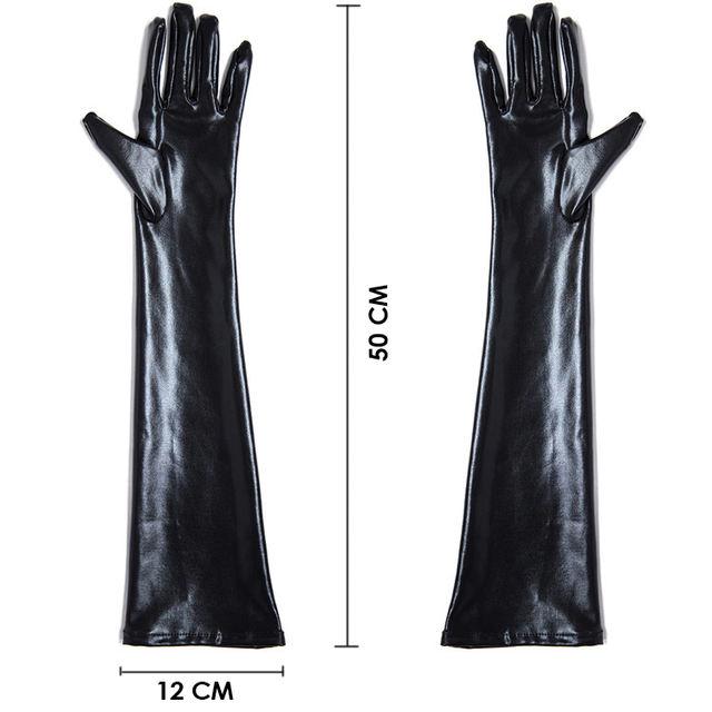 long gloves  & thigh high leggings