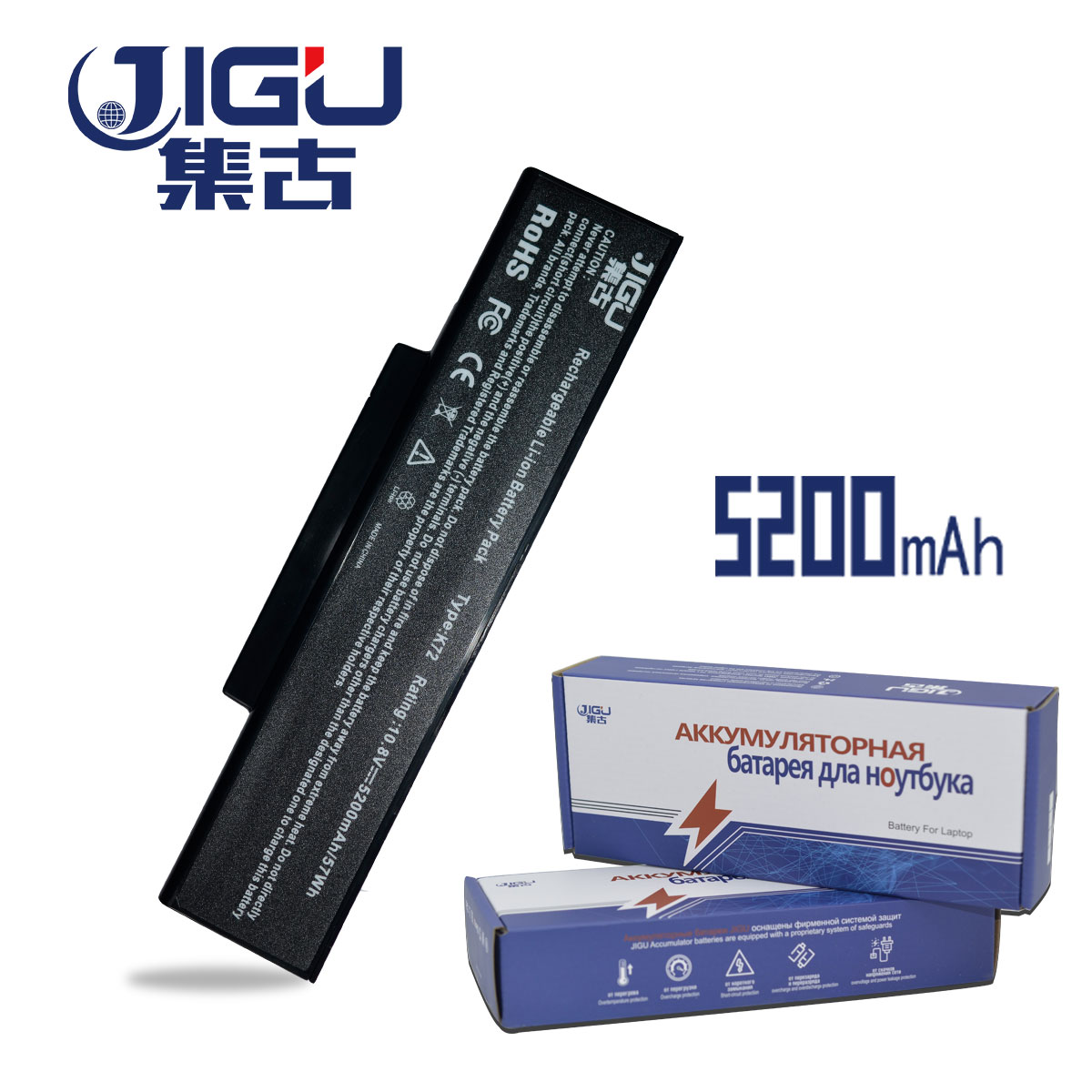 JIGU 6 Cell Laptop Battery For Asus A72 K72 N73 N71 K73 X77 Series Laptop A32-K72 A32-N71