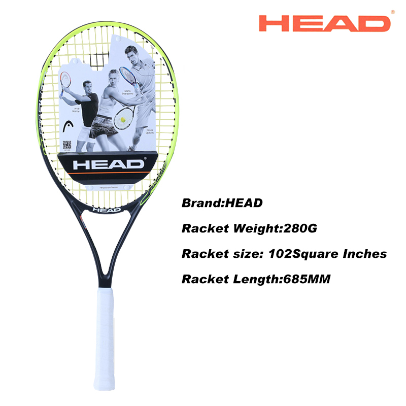 HEAD 2# Racket Surface Tennis Rackets Professional Training Rackets For Men Tennis Top Quality Women Tennis Racquets With Bags quality broken wind chinese dragon badminton rackets carbon fiber professional offensive racquets single racket q1013cmk