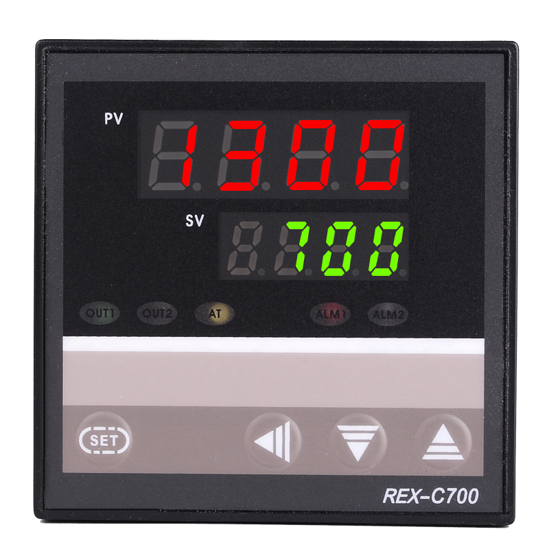 72*72mm SSR Output Size 220V AC Oven Temperature Controller RKC Thermocouple PT100 Input REX C700