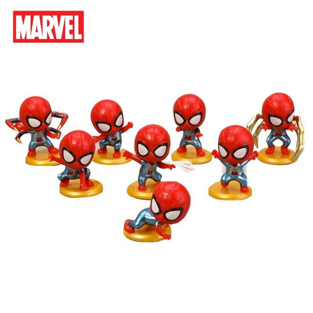 8 pçs/set Disney Infinito Guerra Marvel Avengers Action Figure PVC Figura Collectible Modelo de Decoração Para Casa Bonecas de Brinquedo Do Homem Aranha