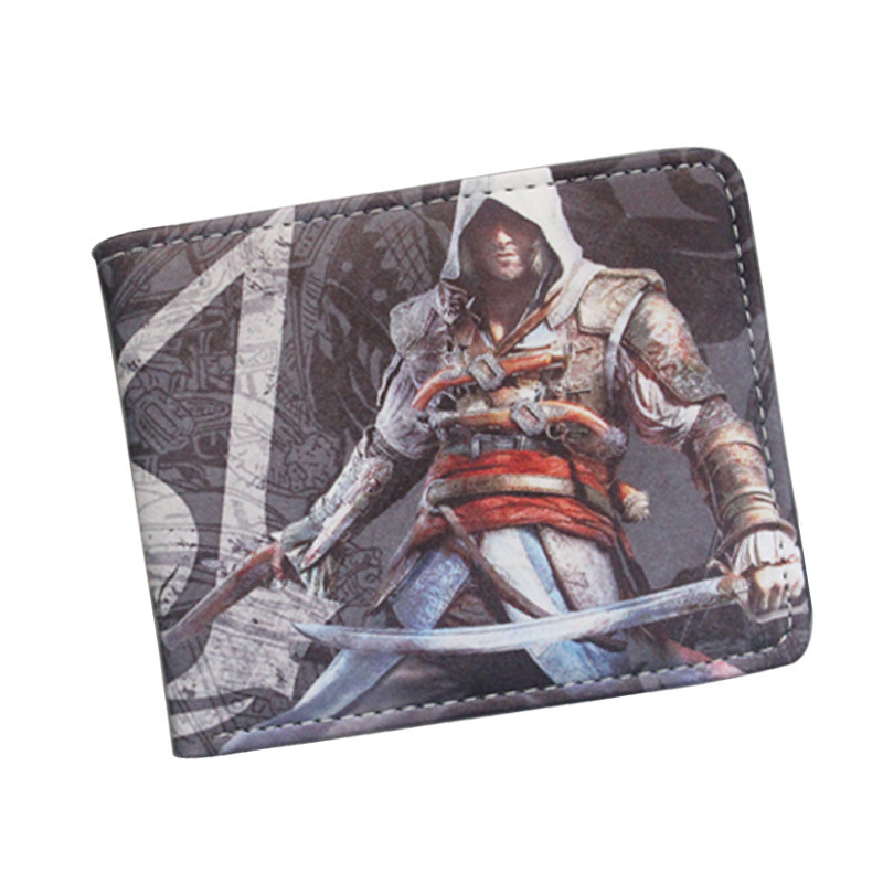 Game Assassins Creed Master Assassin Altair Young Boy Girl Student Leather Short Money Bag men women wallet Purses