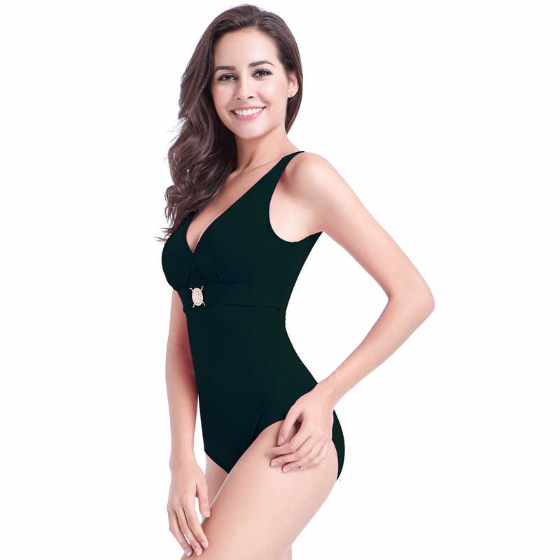 751cf5eb85af2 One piece solid bodysuit panty liners without wings for daily use mesh high  waist swim XL
