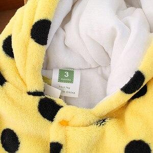 Image 4 - Pelele de oso bebé lindo Unisex, ropa de invierno grueso bebés, 3 colores para recién nacido, CL0430