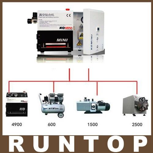 цена  KOMINI 5 in 1 Plate Type Vacuum Laminating Machine Laminator + Built-in Air Compressor + Vacuum Pump + Bubble Remover Autoclave  онлайн в 2017 году