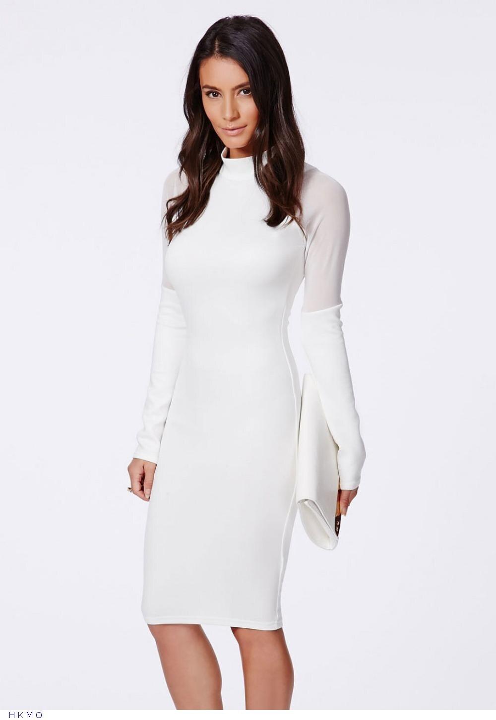 Vestido blanco de oficina