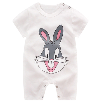 baby clothing 100% cotton unisex rompers baby boy girls short sleeve summer cartoon toddler cute Clothes 1