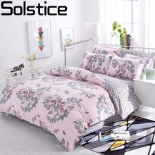 Solstice Cotton Pastoral Flower Cartoon Style Fashion Bedding Bed Linen Bed Sheet Duvet Cover Pillowcase 4pcs Bedding Sets Queen cheap Sheet Pillowcase Duvet Cover Sets Grade A Polyester Cotton Printed European and American Style Home 4 pcs Reactive Printing