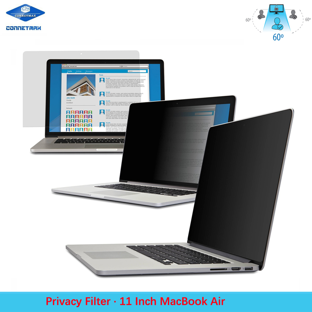 Anti-Glare Laptop Privacy Filter Blackout for Apple MacBook Air 11""