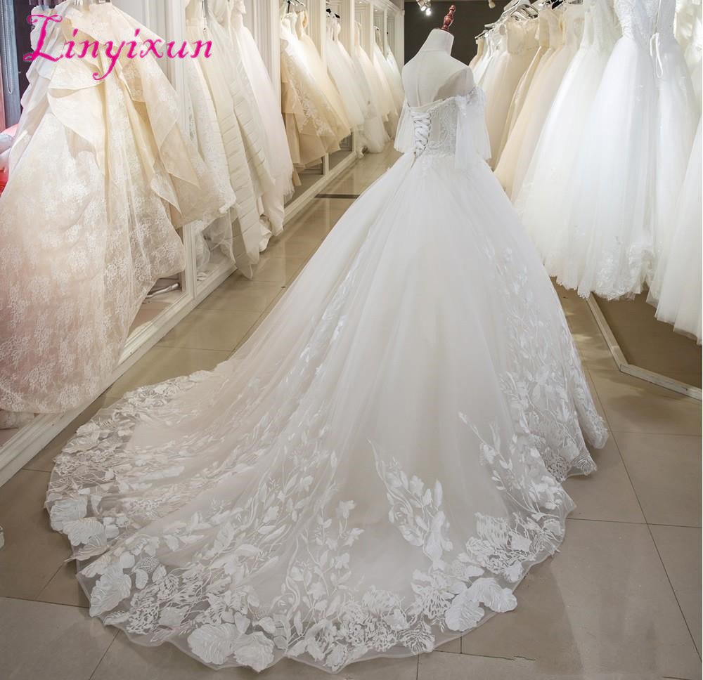 latest-a-line-wedding-dresses-lace-beaded