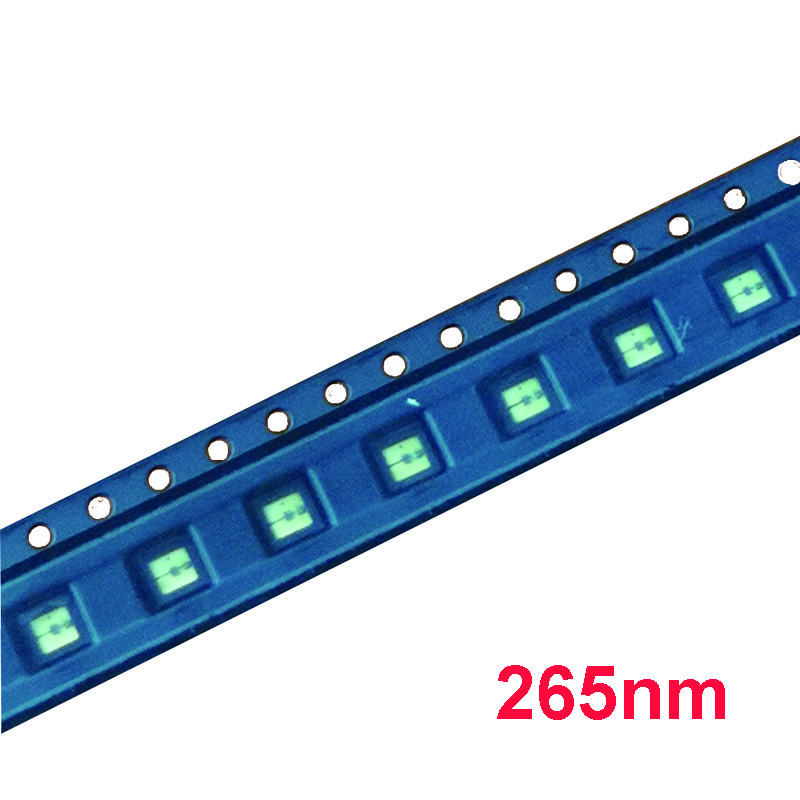 UV LED Diode 265nm UVC LED SMD 3535 260nm 270nm Chip Ultra Violet licht perlen UV led diode tiefe uv für licht