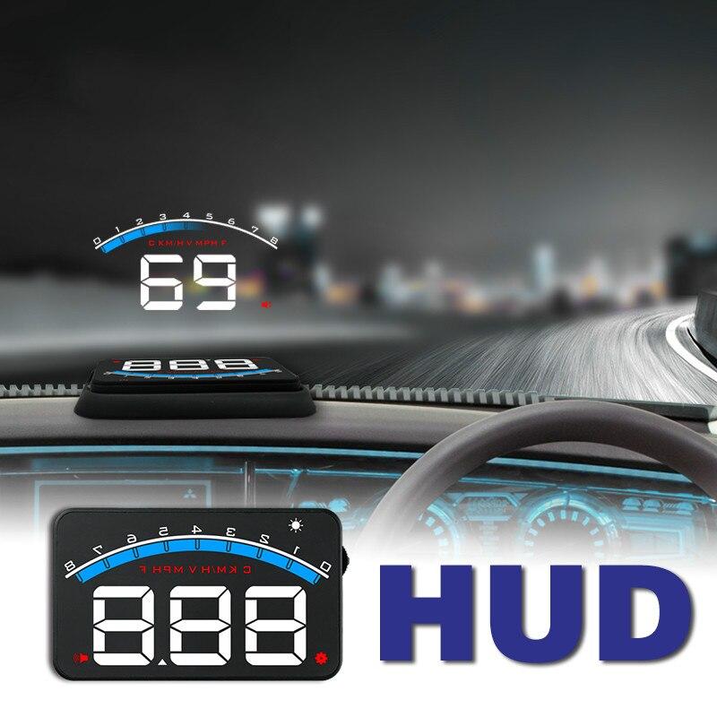 все цены на 2018 Newest M6 HUD Head Up Display Car-styling Hud Display Overspeed Warning Windshield Projector Alarm System Universal Auto M6 онлайн