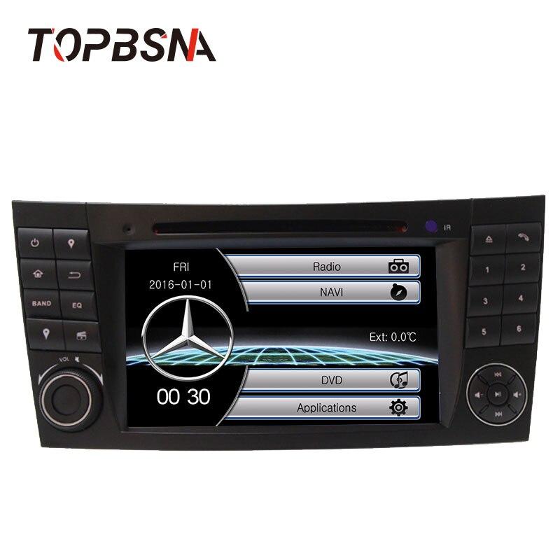 TOPBSNA 7 дюймов 2 din dvd плеер автомобиля для Mercedes Benz E Class W211 E200 E220 E300 E350 gps Navigaiton 8 ГБ SD карту с RDS