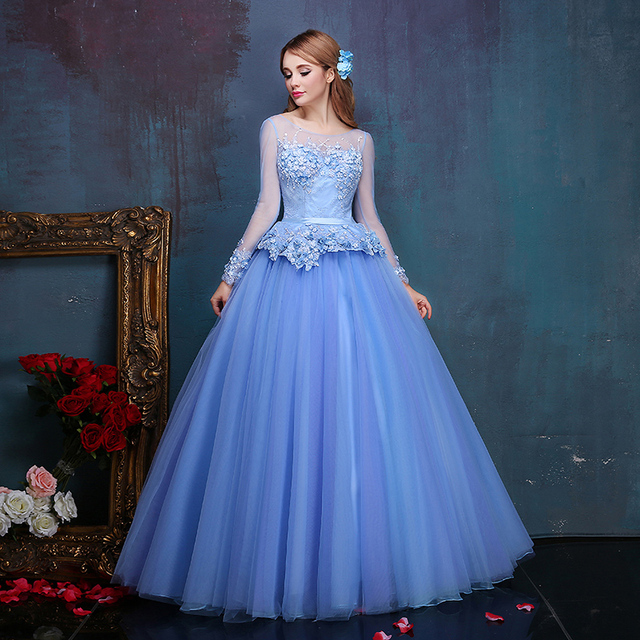 Medieval Renaissance Light Blue And White Gown Dress: Aliexpress.com : Buy 100%real Embroidery Beading Light