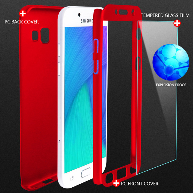 360 Full Cover Phone Case For Samsung Galaxy A3 A5 J7 J5 2016 A6 A8 2018 Case For Samsung A5 A7 2017 Protective Shell Case Cover