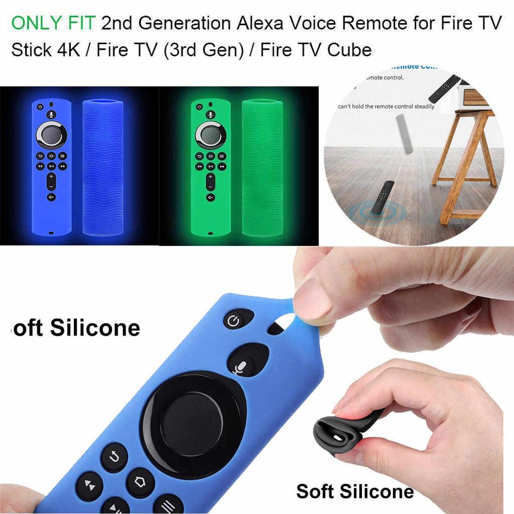 Custodia protettiva Per Amazon Fuoco TV Stick 4K TV Stick di Controllo Remoto Caso Luminoso Del Silicone di Protezione Della Copertura Della Pelle