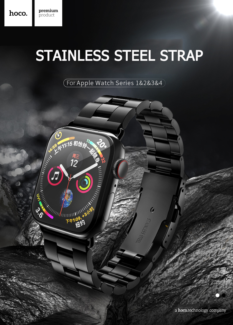 Image 4 - HOCO Bracelet Steel Band For Men Compatible With Apple Watch Series 4 3 2 1 Accessories Adapter For Iwatch 44mm 42mm 40mm 38mm-in Watchbands from Watches
