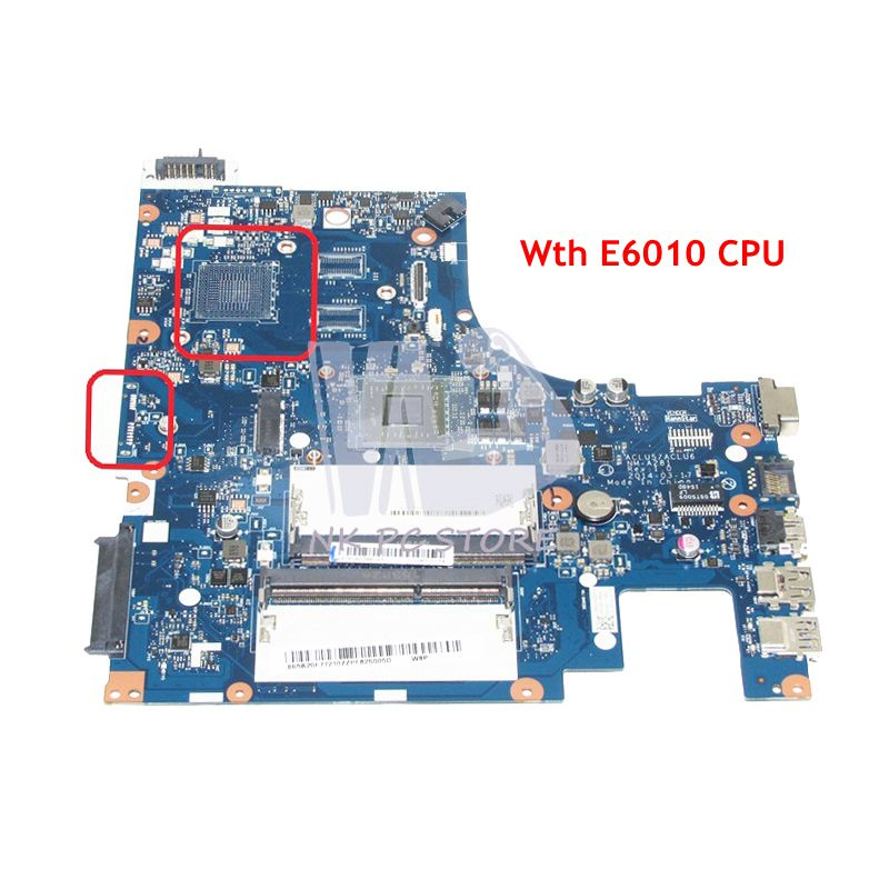 NOKOTION For Lenovo ideapad G50-45 Laptop motherboard 15 Inch ACLU5 ACLU6 NM-A281 E1-6010 CPU onboard DDR3
