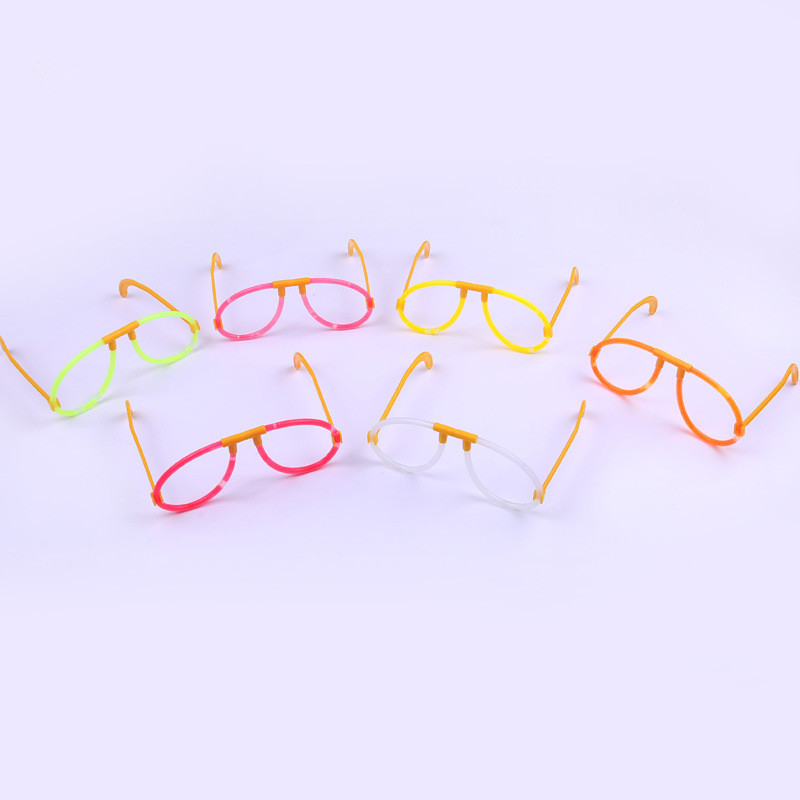 8Pcs Fluorescent Glasses Light Glasses for Christmas Birthday Halloween Party Decoration Supplies Glow Glasses Kids toy