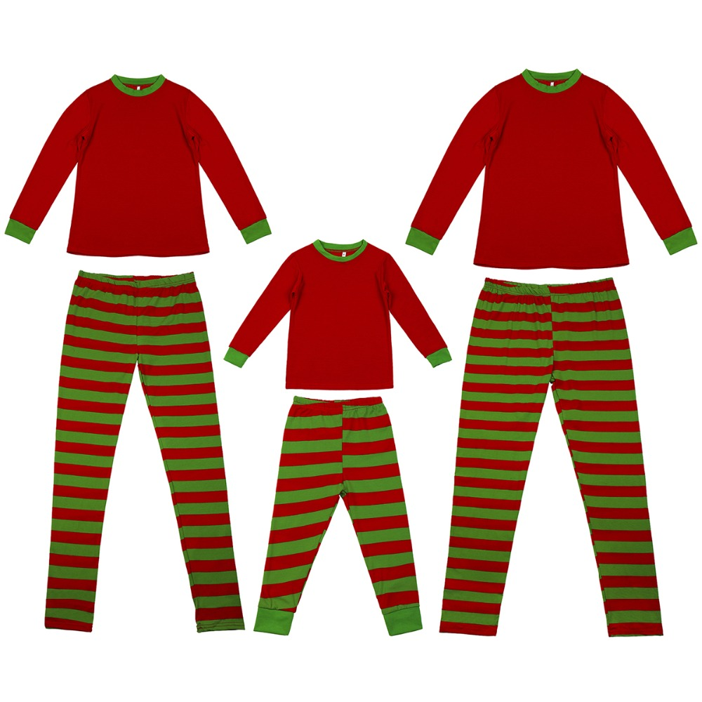 New 2pcs Set Family Christmas Pajamas Family Matching Parent Child Sleepwear Father Mother Kids Family Look Christmas Clothes