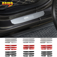 BAWA Interior Mouldings for Jeep Wrangler JL 2018 4 Door Car Scuff Plate Door Sill for Jeep Wrangler jl Stickers