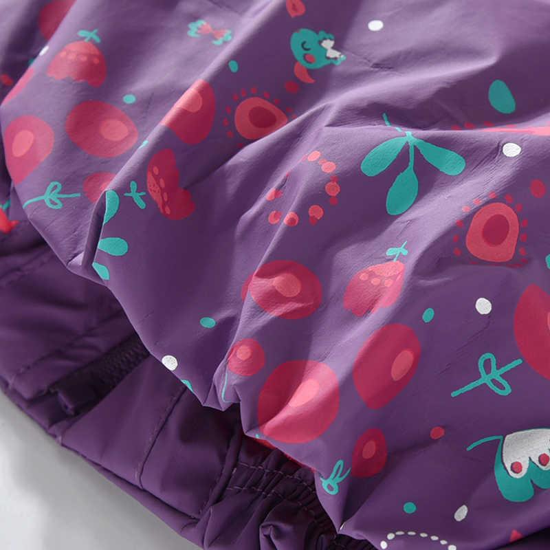תינוק בנות מעילים עמיד למים אביב סתיו ילדים ילדה סלעית מעילי פרח הסווטשרט ילדי מעיל רוח הלבשה עליונה 1 2 3 4 5 שנים